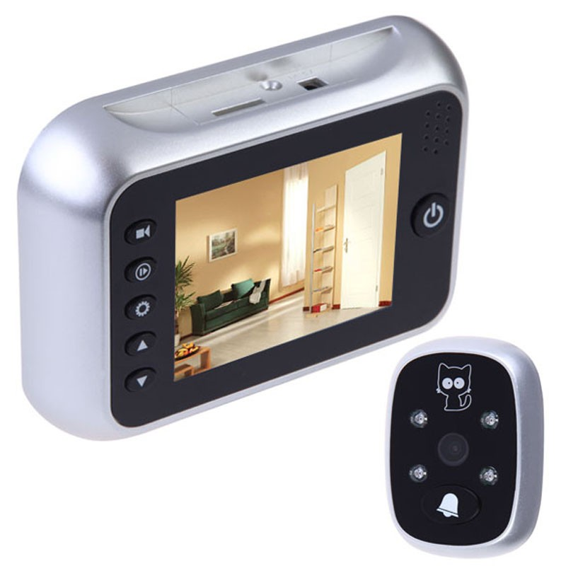 Wholesale Russian Menu door peephole video eye 3.5inch IR Night vision 3X Zoom Photos Taking+Video Recording 32Rings door camera