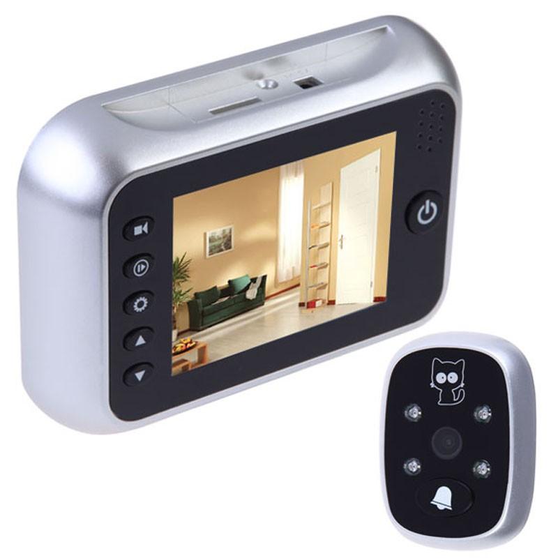Russian Menu door peephole video eye 3.5inch IR Night vision 3X Zoom Photos Taking+Video Recording 32Rings door camera