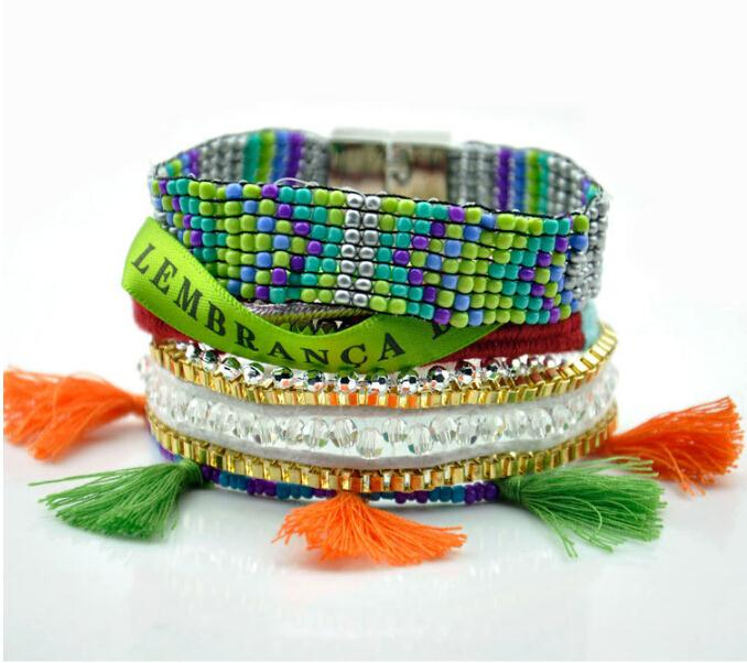 Wholesale Brazilian Style Hipanema - Wholesale-Hipanema Bracelet Woven Brazilian Style Jewelry Magnetic Clasp Bella Vista Bohemian bracelet Ipanema boho Bracelet free shipping