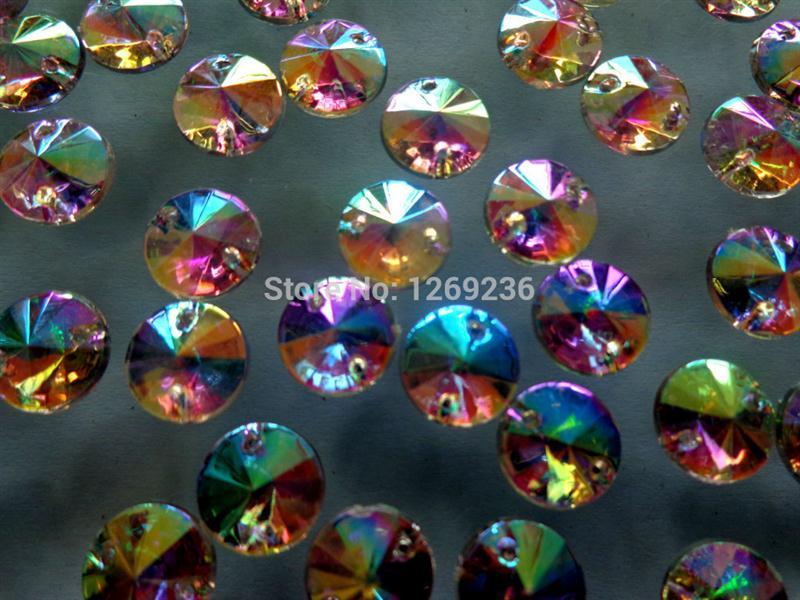Wholesale Acrylic Flatback Sewing Beads - Wholesale-Round loose beads accessory gemstone Clear AB 300pcs 10mm Sew On Acrylic Rhinestone Crystal Flatback strass Diamond m160