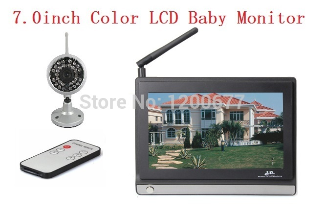 Wholesale Waterproof Nightvision - 7.0inch baby monitor wireless 2.4Ghz 4channels IR night vision 380TV Line Waterproof camera baba eletronica digital baby monitors