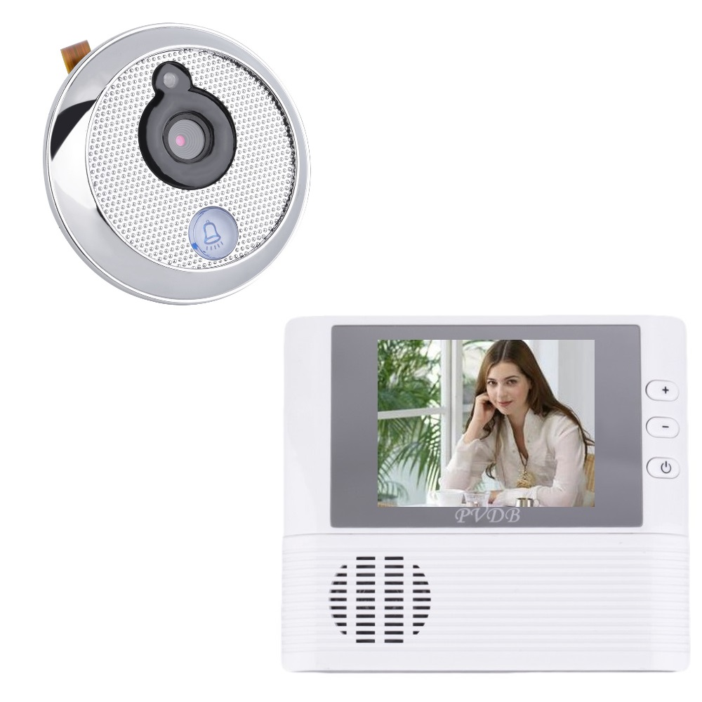 Wholesale 3x zoom - 2016 video eye wireless 2.8inch TFT LCD 3X Zoom Doorbell Photos Taking door camera videoglazok door