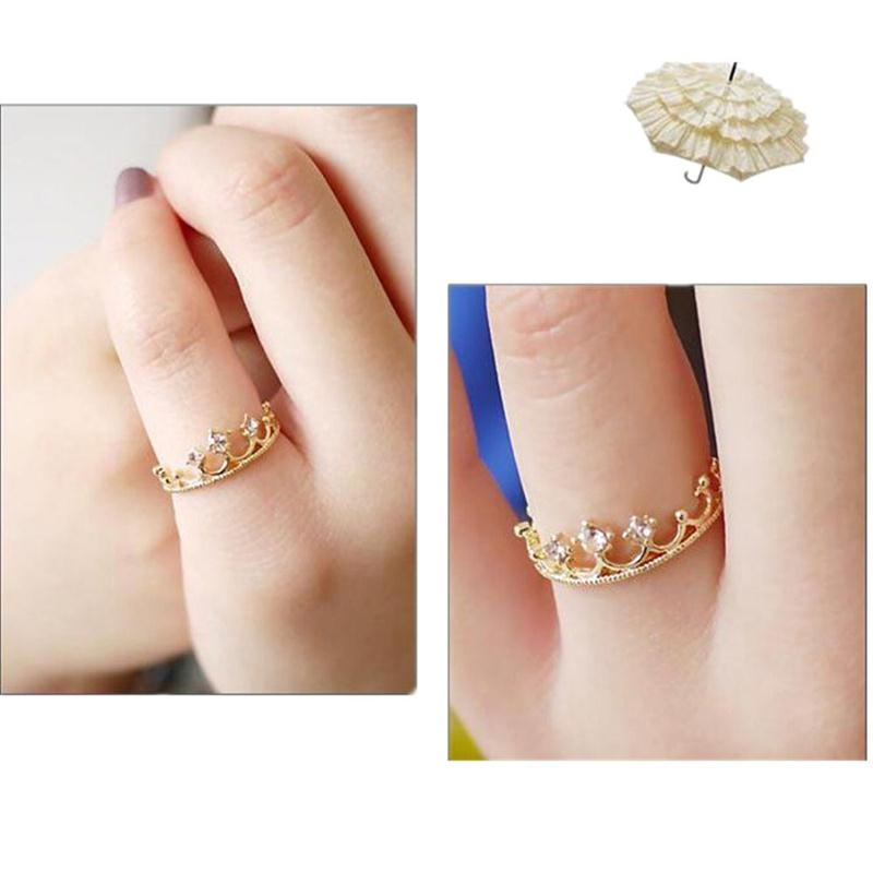 Wholesale Cheap Bijoux Wholesale - Wholesale-221 Hot One Direction Cheap New 2016 Fashion Men Bijoux Rhinestone Crown Ring For Women Wedding Rings Jewelry Accessories Gift