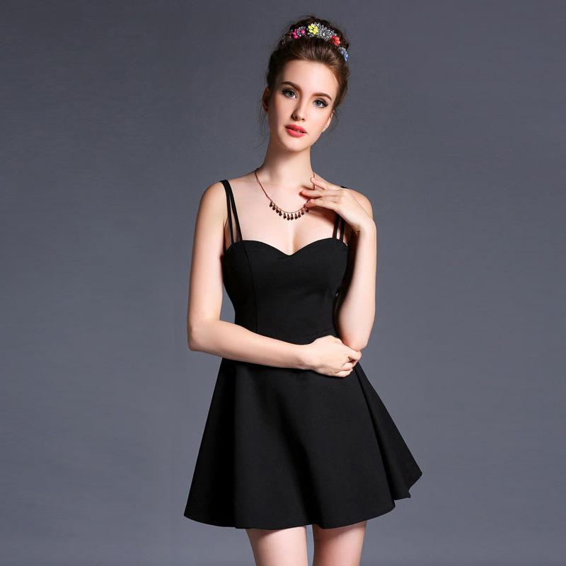 Wholesale Green Strapless Summer Dress - 2016 The European And American White Green Black Summer Sexy Backless Condole Belt Strapless Dress for women mini dresses YEU