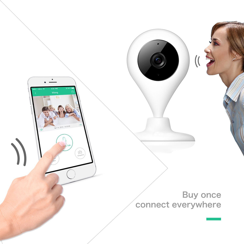 Wholesale Night Time Security Cameras - Drops ip camera 720P security camera IR Night vision 2 way talk Real-time video 360 Rotation baby camera support Onvif Max 64G