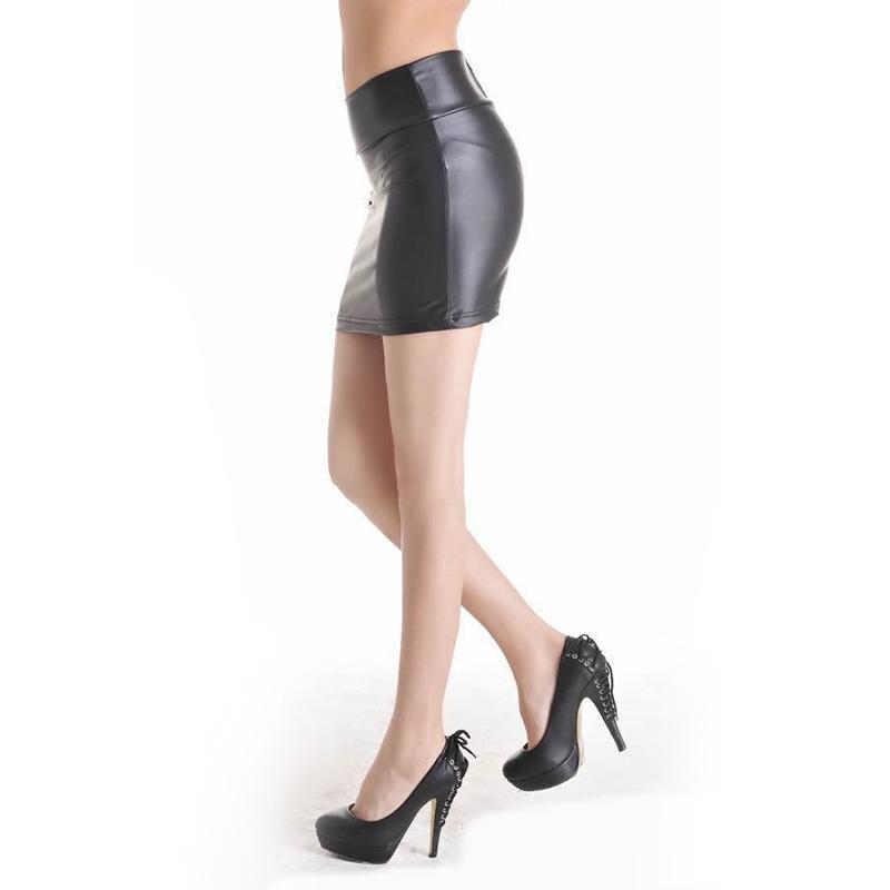 Canada Vintage Black Leather Skirt Supply, Vintage Black Leather ...