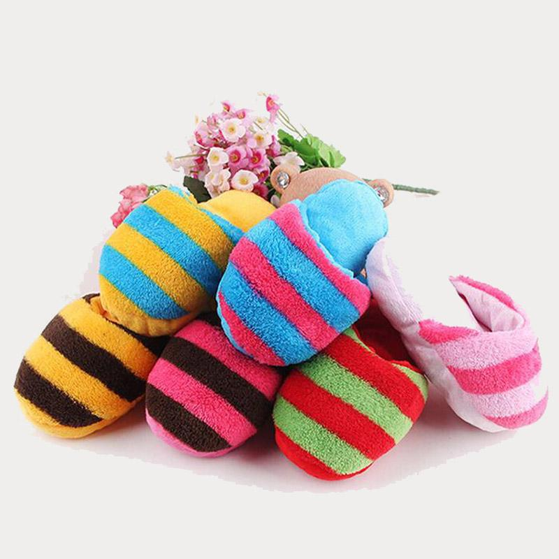 Wholesale Cheap Chew Toys - 2016 New Arrival Cheap Pet Supplies Dog Puppy Chew Play Toys Rainbow Color Slipper Shape Squeaky Toys Hot Selling
