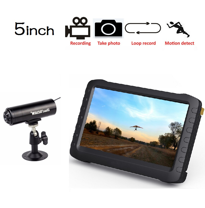 Wholesale 5inch Lcd - 5inch HD CMOS camera babyphone monitor 5.8GHz IR Night vision Motion Detection 8Channels Multi-language Photos+Record baby phone