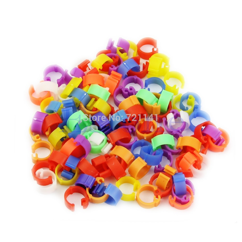 Wholesale Duck Clips - Free Shipping 100X Chicken Hen Pigeon Leg Poultry Dove Bird Chicks Duck Parrot Clip Rings Band