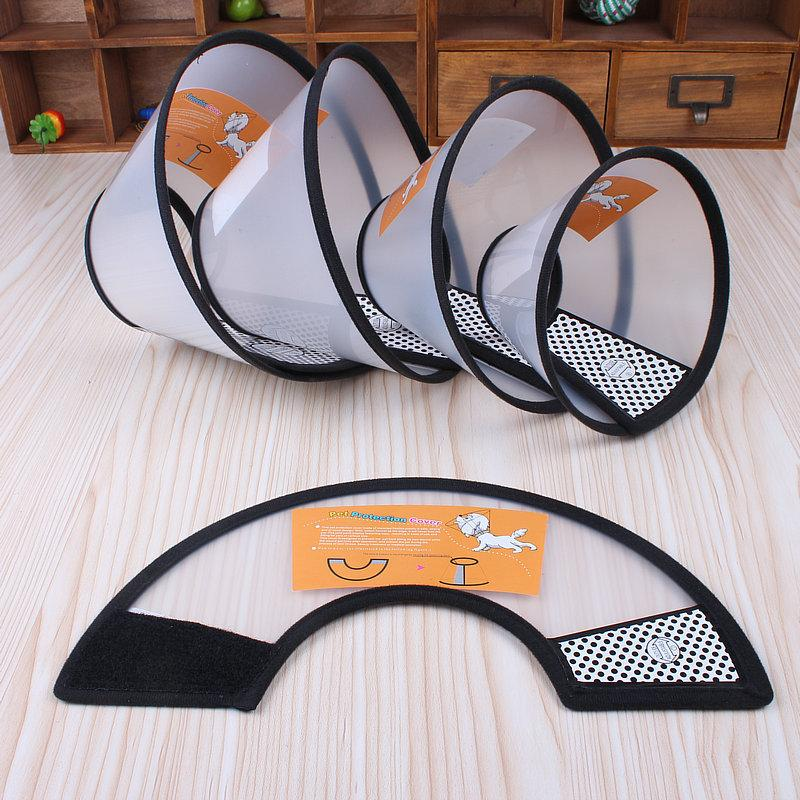 Wholesale 2016 Hot Elizabeth Lap Cat Dog Protection Beauty Plastic Mouth Cover Anti Caught Anti Bite Licking Pet Supplies Protective Mask