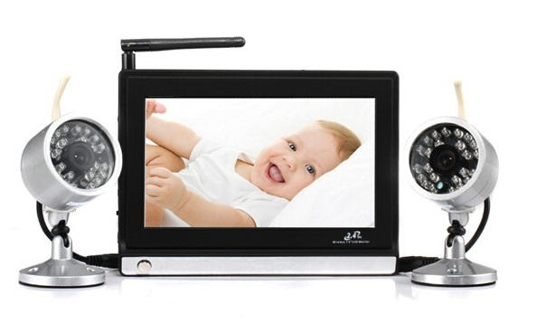 Wholesale Fetal Monitoring Baby - 7.0inch video baby monitor New 2.4GHz 4 channels IR Night vision Remote control 2 cameras baba eletronica digital detector fetal