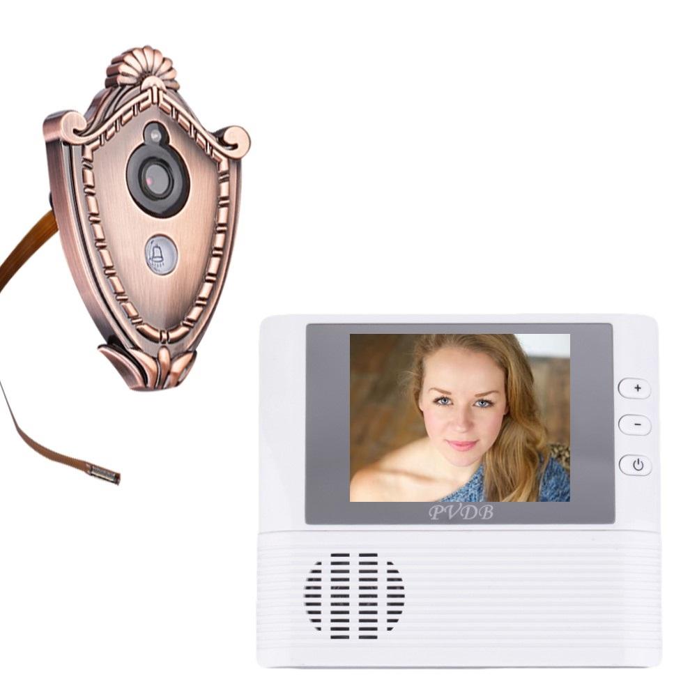 $enCountryForm.capitalKeyWord Canada - 2016 digital peephole door camera 2.8inch TFT LCD 3X Zoom Doorbell Photos Taking 0.3Megapixels CMOS peephole camera door viewer