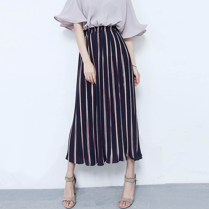 Wholesale Wide Leg High Waisted - 2016 new summer dress loose waisted pleated stripes wide leg pants pants nine female casual pants