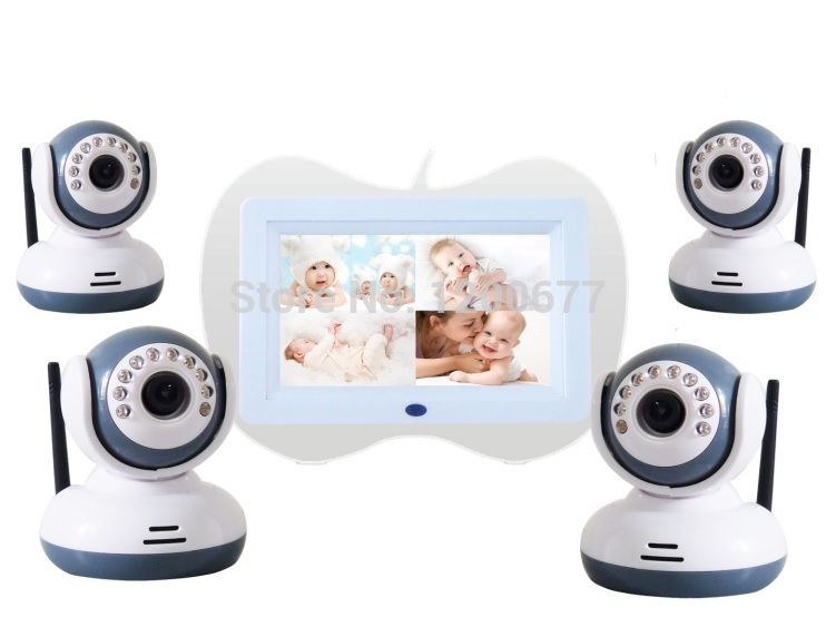 $enCountryForm.capitalKeyWord NZ - 7.0 inch video baby monitors 4 channels IR Night vision Wireless Power save baba eletronica baby monitors support Max 32GB