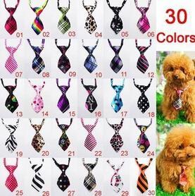 Wholesale Groom Silk Tie - New 10 pcs Fashion Polyester Silk Pet Dog Necktie Adjustable Handsome Bow Tie Necktie Grooming Supplies