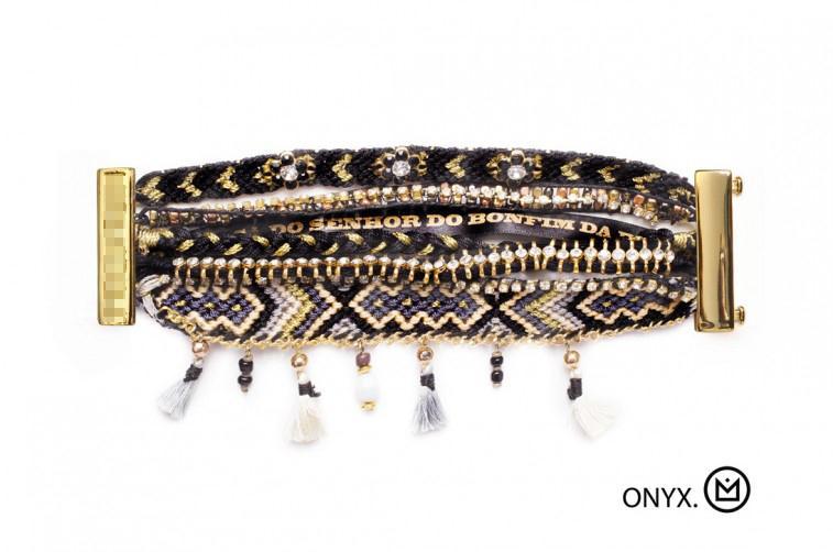 Wholesale Diy Pulseiras - Wholesale-Ethnic Style DIY Beads Pulseiras Charm Bracelet HIPANEMA ONYX Handmade Friendship Bracelets & Bangles Christmas Gift Wholesale