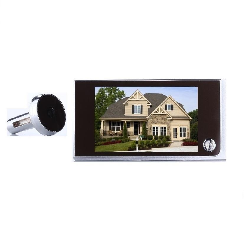 Wholesale Wireless Camera Door Monitors - New digital peephole door camera 3.5 inch LCD 0.5 Megapixels camera 120 degree viewing angle door peephole camera