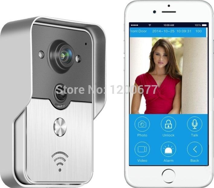 Wholesale Wireless Intercom Waterproof Camera - Wifi door phone video intercom ip camera Waterproof Remote Unlock doorphone Support IOS Android for iPad Smart Phone Tablet