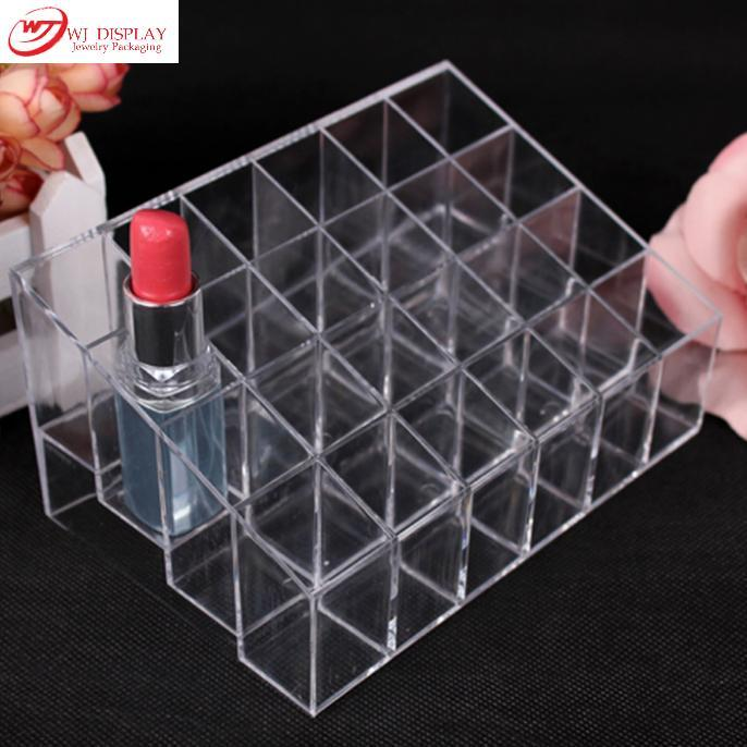 Wholesale2015 New Promotion Makeup Cosmetic 24 Cases Clear Acrylic