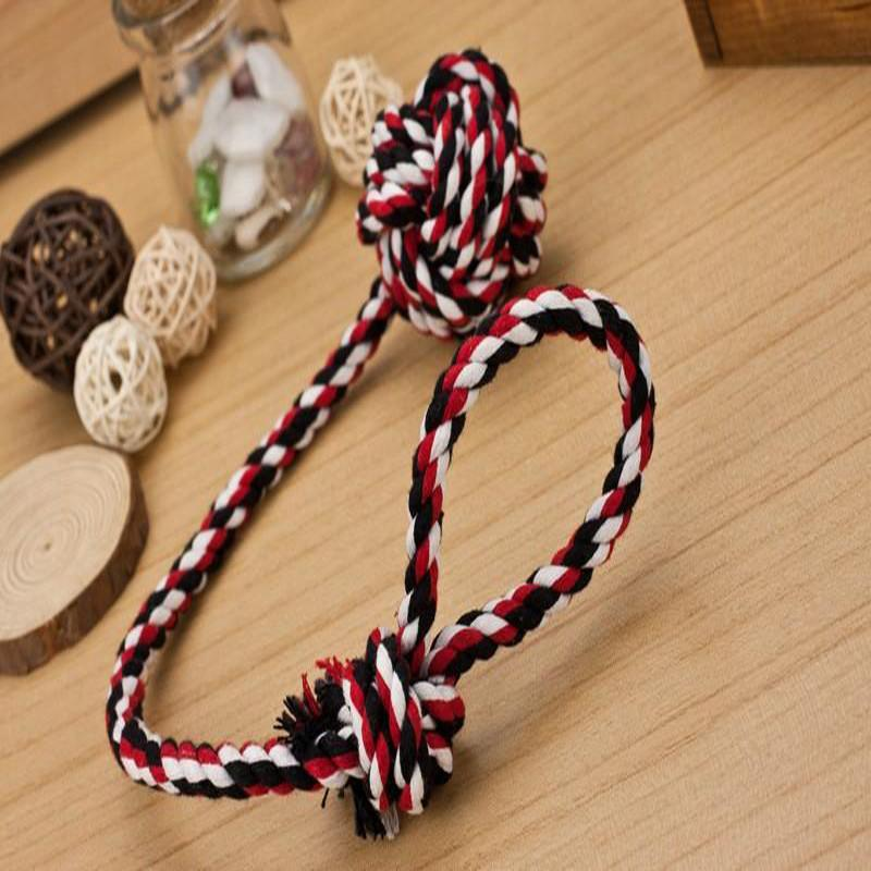 Wholesale Tool Bit Brushes - Hot Sale Pet Products Cotton Rope Knot Molar Tooth Tool Cleaning Toys For Dogs Multicolor Stitching Brushing Durable Bite Toy