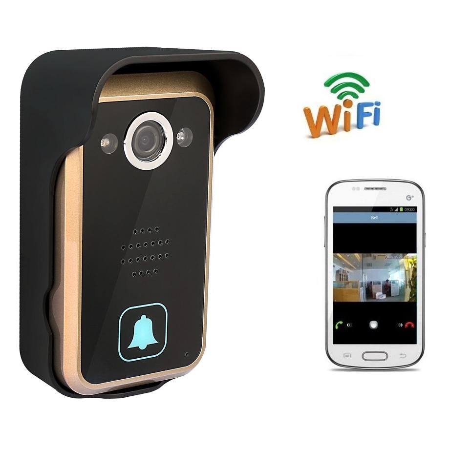 2016 campanello wifi 720 P HD telecamera IR nightvision Remote Unlock Anti-temperamento allarme PIR Motion Detection wifi campanello Max 4 utenti