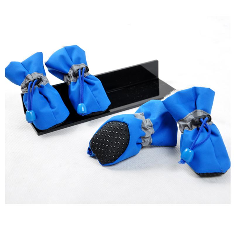 Wholesale Pets Products Shoes - Winter Warm Pet Thick Dog Shoes 4pcs set Footwear Waterproof Rain Boots Pet Products Dog Clothes