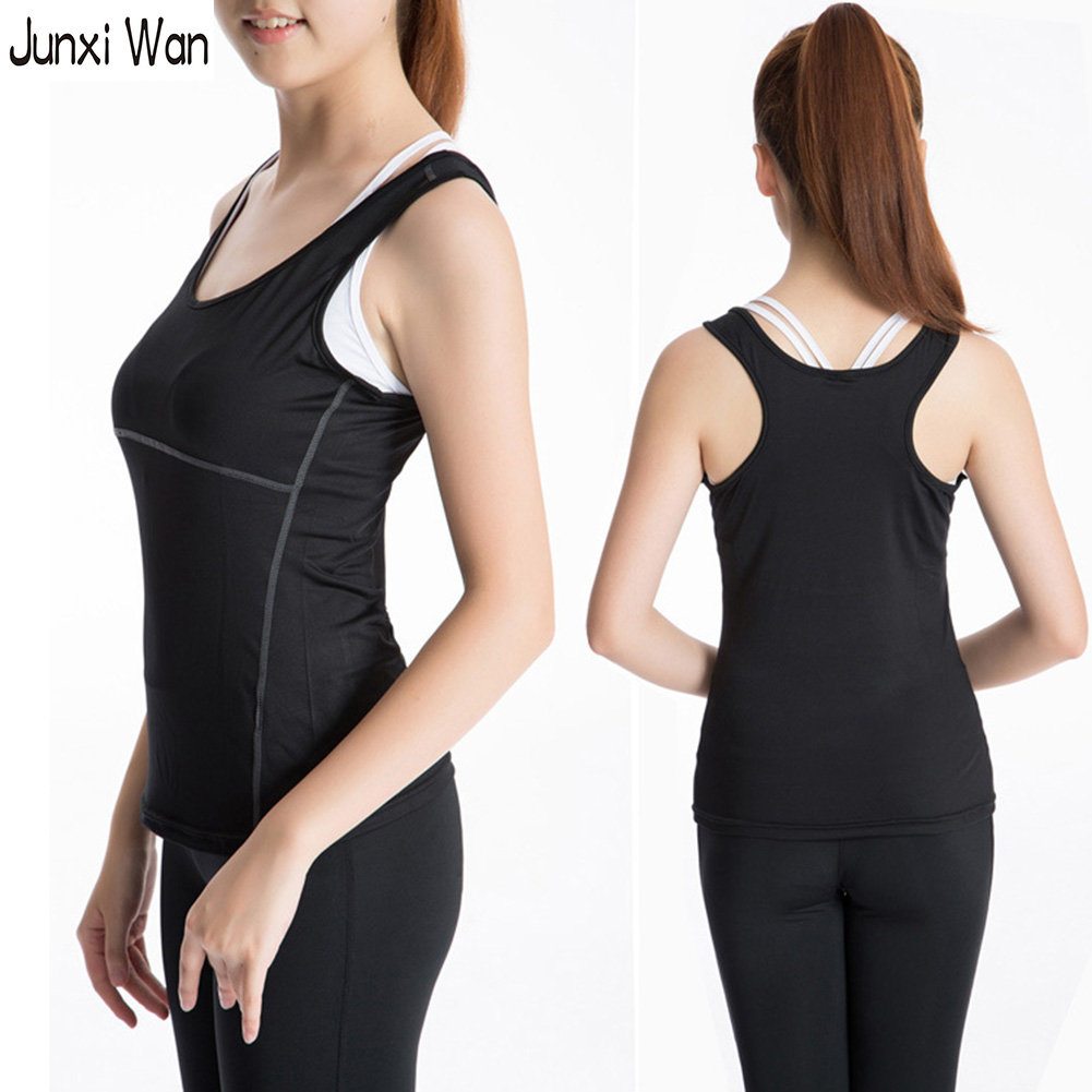 Mujeres Compression Athletic Sport Chaleco de entrenamiento sin mangas Tee Shirt Gym Tank Tops