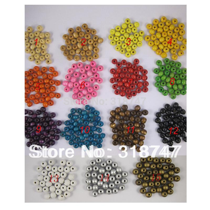 Wholesale Bead Assortment - Wholesale-8mm wooden beads assortment for DIY and Craft (100pcs Lot) 028006(8)