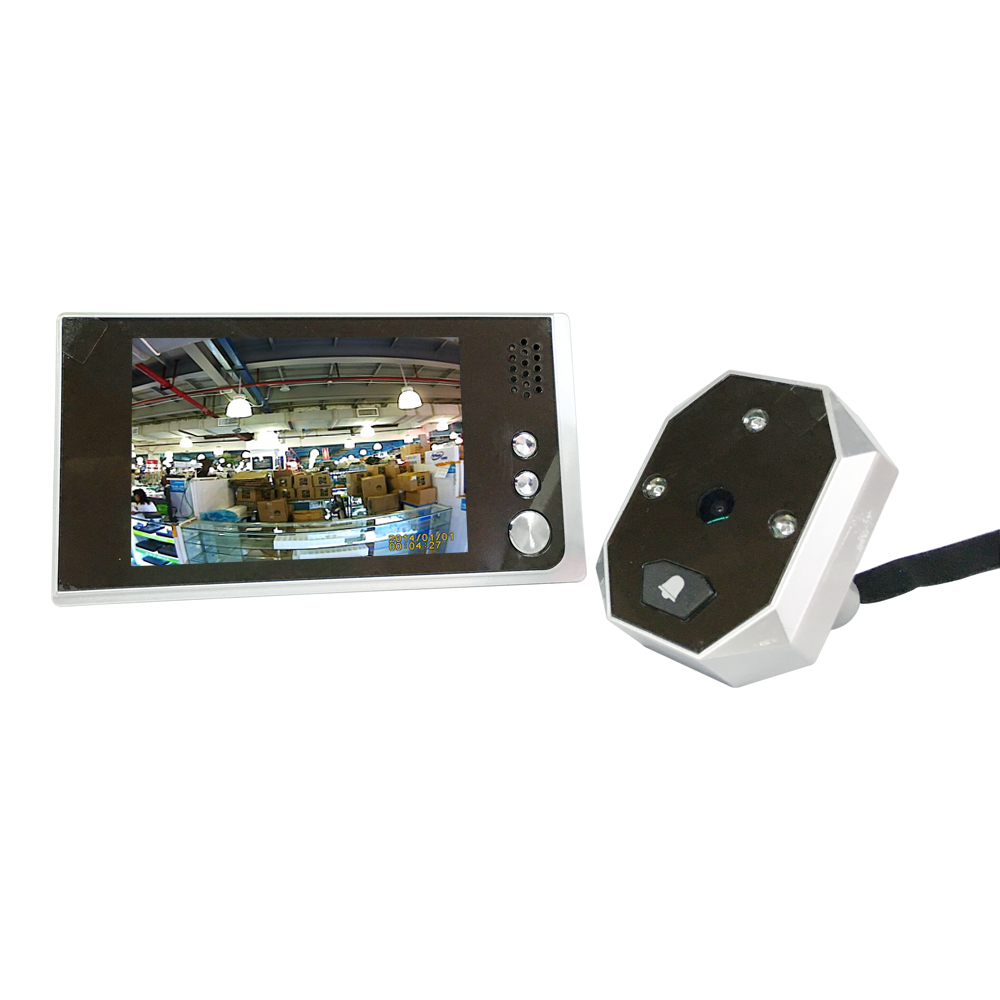 New door peephole 3.5inch LCD 1.0Megapixels camera 120 degree viewing angle door eye peephole with IR night vision