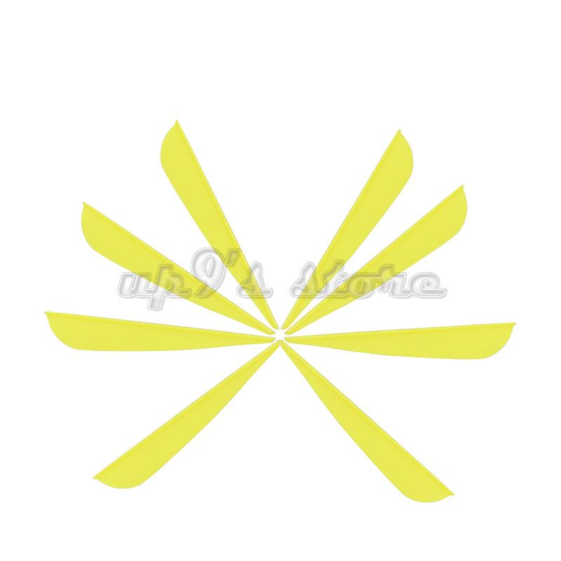 plastik diy yay toptan satış-100 ADET 4 inç TPU Plastik Sarı / Beyaz Ok Vane Fletching Için DIY Ok Okçuluk Bow Maker