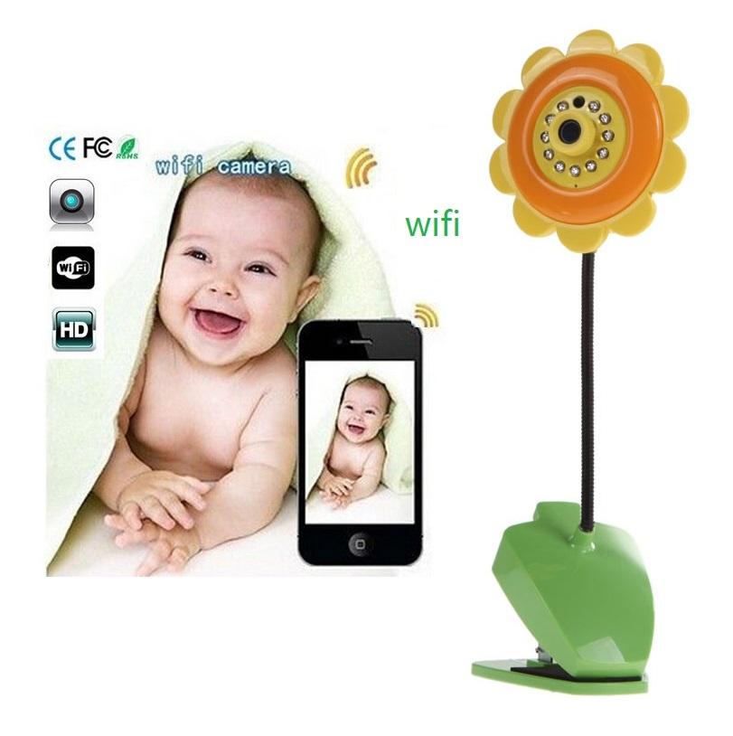 Baby Monitors baba eletronica com camera baby call 1.0 Megapiexls baby camera IR Night vision sunflower wifi camera baby alarm