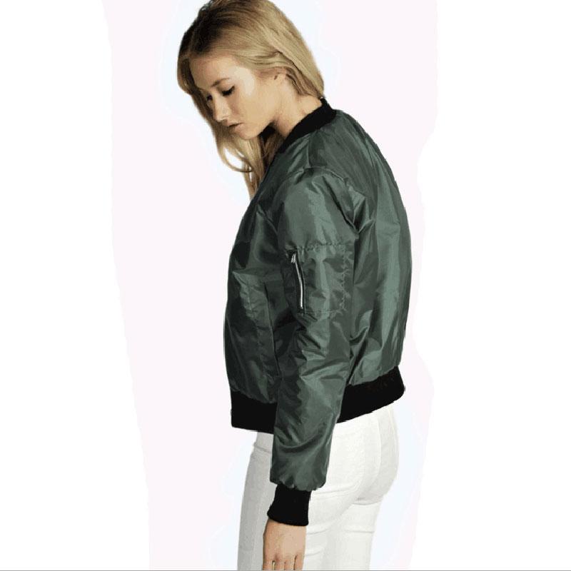 2016 Women Spring Fashion Casual Loose Bomber Jacket Coat Flight ...
