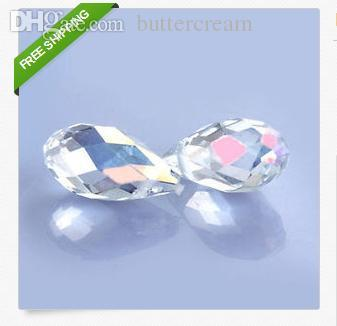 Wholesale Wholesale Briolette Bead - Wholesale-Sale Price !100pcs 6mm x 12mm White AB Briolette Pendants Crystal Glass Jewelry Loose Teardrop Beads DIY free shipping