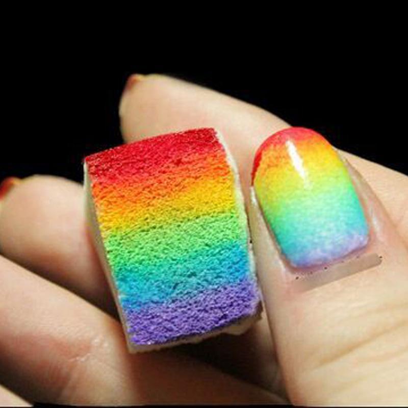Lnail Art Tools Gradient Diy Rainbow Nails Soft Sponges Easily Color