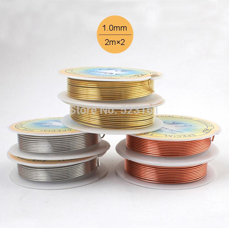 Wholesale 2 pcslot 18 ga jewelry copper wire solid gold silver wholesale 2 pcslot 18 ga jewelry copper wire solid gold silver coated wrapping weaving gauge total 4m diy craft wire thickness 10mm 2018 from falloutboy greentooth Choice Image