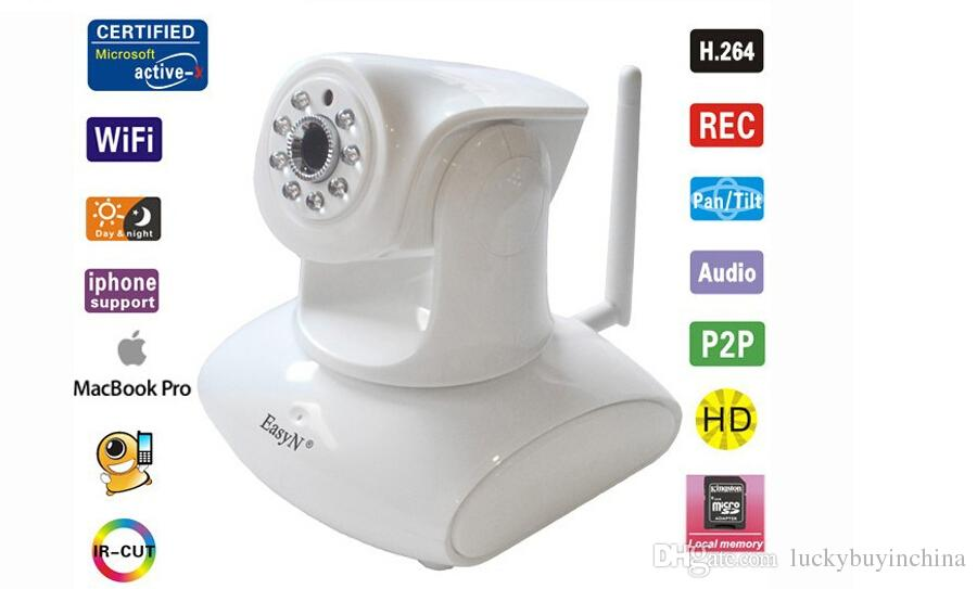 Wholesale Easyn Hd - Free shipping Easyn HD 960P IP Camera WPS WIFI two-way audio smartphone surveillance Smart Home IP cameras pan tilt Plug play