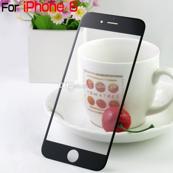 لiphone6 الجبهة عدسة زجاج الشاشة استبدال جزء لفون 6 4.7 بوصة DHL EMS شحن مجاني