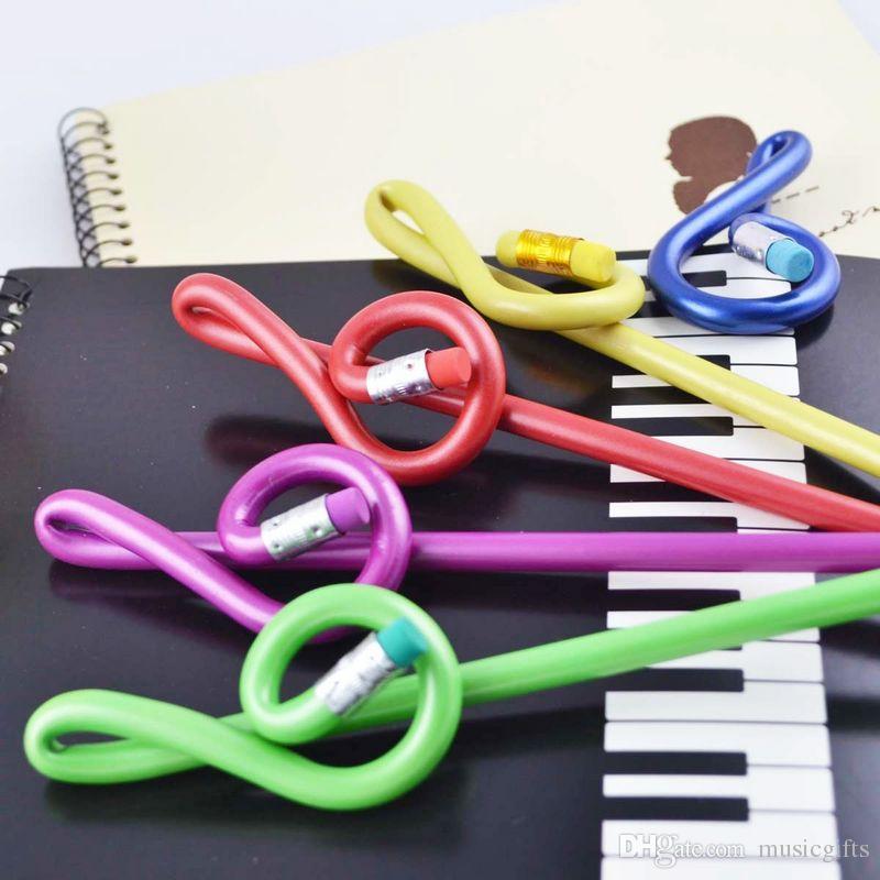 Канцтовары Подарки Высокие ноты Карандаш Детские карандаши Карандаши Мода Музыка Sationery для студентов 40pcs Цвет Смешанные