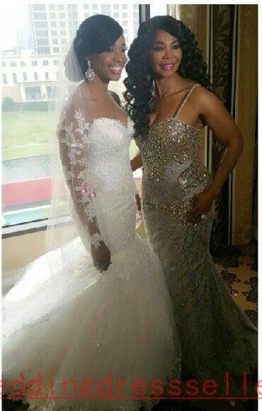 Vestido De Novia Plus Size White Lace Mermaid Wedding Dresses 2016 ...