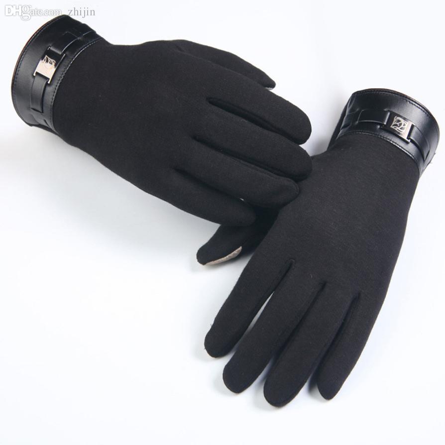 Gros-supérieur hiver plein doigt doigt Smartphone écran tactile gants de cachemire mitaines oct20
