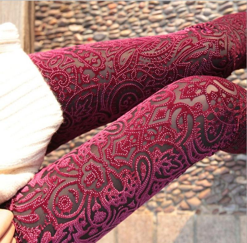 Ladies//Women New Flower Pattern Lace Tights