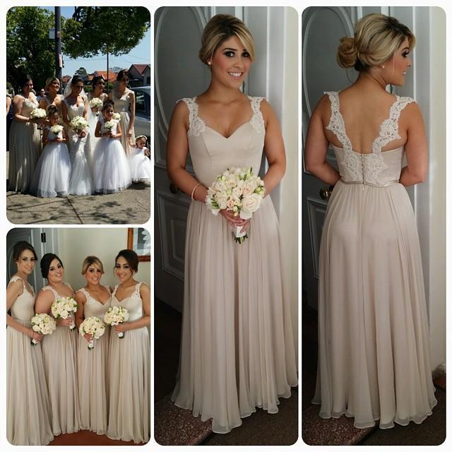 Vestido de Dama De Honra Skromne paski Szyfonowe Długie Druhna Dresses Przykryty Przycisk 2021 Wieczorne Party Honor Honor Maid Custom