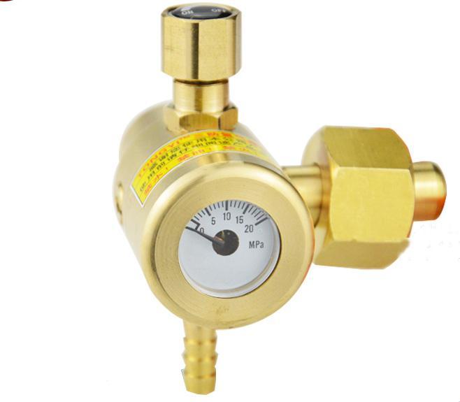 Freeshipping All copper Argon Regulator Welding Regulator Argon Gas Reduced Pressure Meter Outside Diameter 22.5mm 20MPa