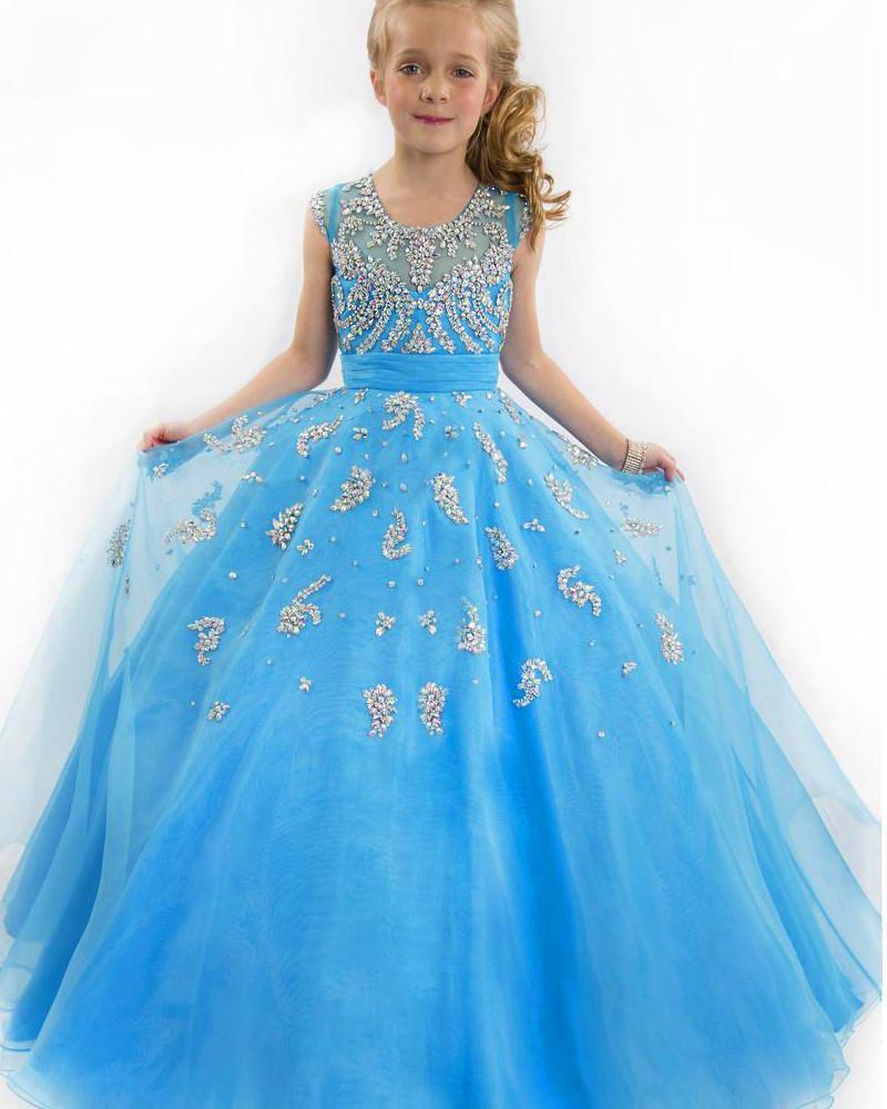 2016 New Girl Ball Gown Ball Gowns Flower Girls Pageant Dresses For ...