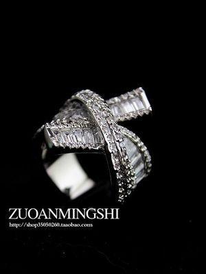 Kormory Corss Color Cyrkon Kamień Pierścień Ring 6 7 8 (Gghhjjghj)
