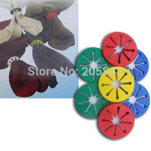 Wholesale- 10pcs/lot Sock Holder Rings Colorful Sock Organizers Sorters Locks Clips Laundry