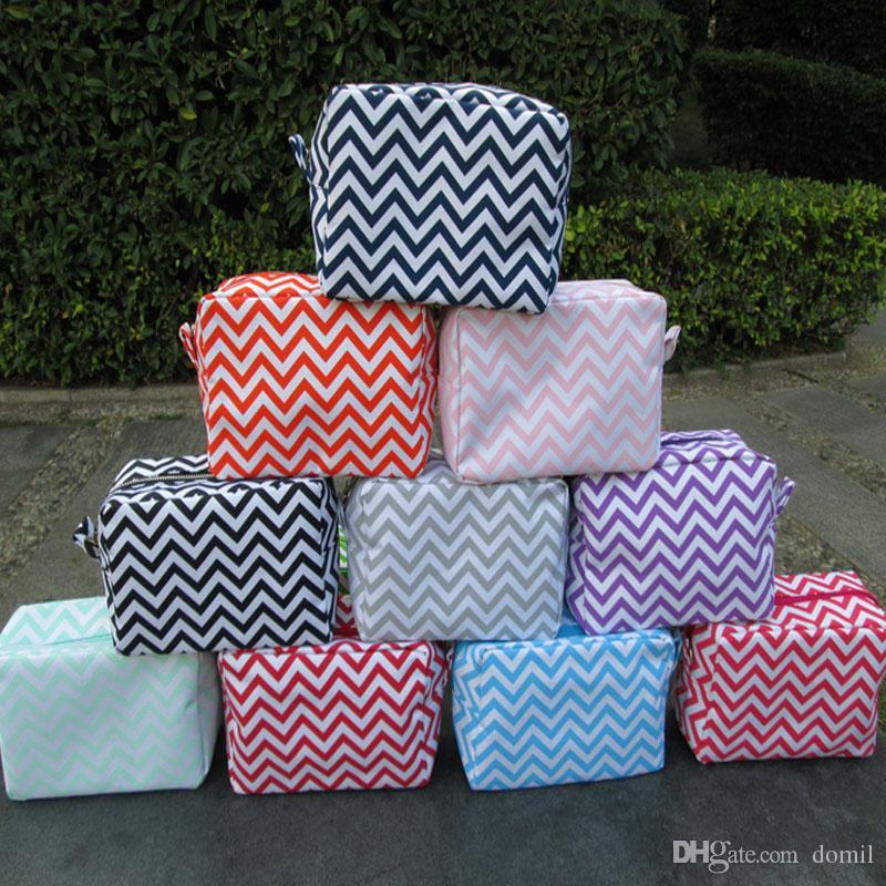 마이크로 화이버 쉐 브 론 화장품 가방 다양 한 색상의 세면 용품 가방 그녀의 DOMIL106001에 대 한 좋은 선물