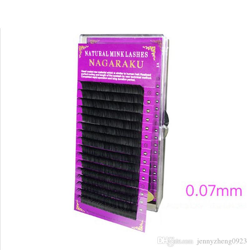 High quality Artificial Mink eyelash extension Hand made individual eyelash extension 0.07mm J B C D 8mm-15mm eyelashes