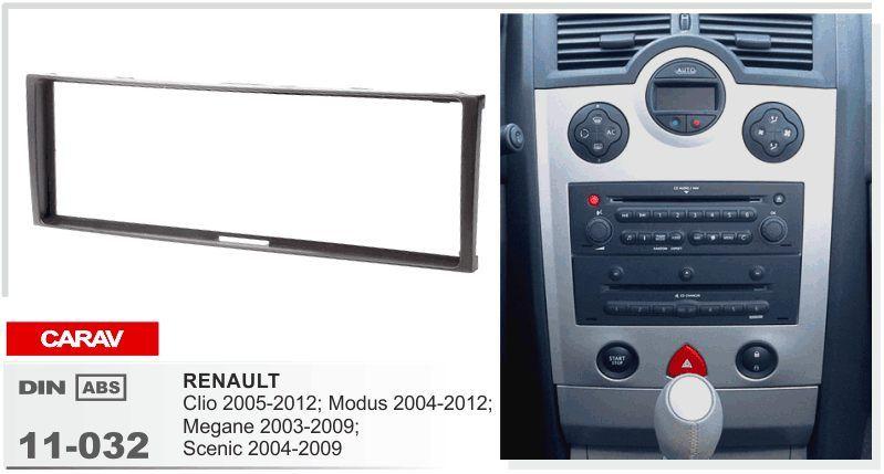 RENAULT Single DIN Car CD Stereo Radio Panneau Avant Fascia Surround Adaptateur Panneau Plaque