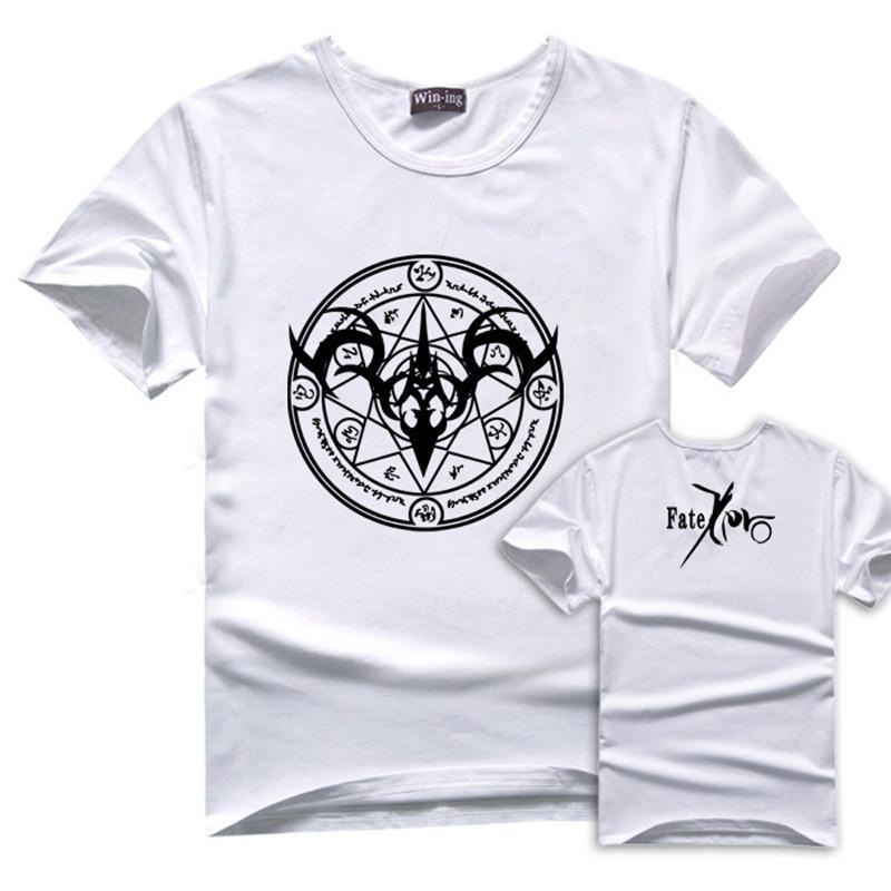 FG 1509 Fate Zero stay night T-shirt Anime white red black tshirt 2015 NEW style T shirt men BT20